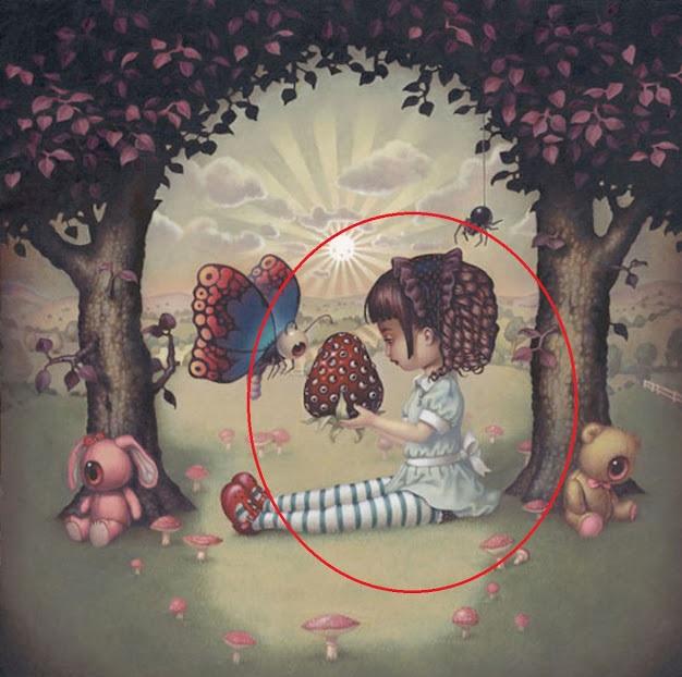 Gjëja e parë që shohim në pikturë tregon Frikën më të Thellë që kemi në mënyrë të Pandërgjegjshme