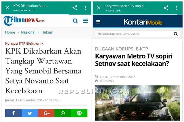 Wartawan Tv Nasional Sopir Setya Novanto Jadi Tersangka