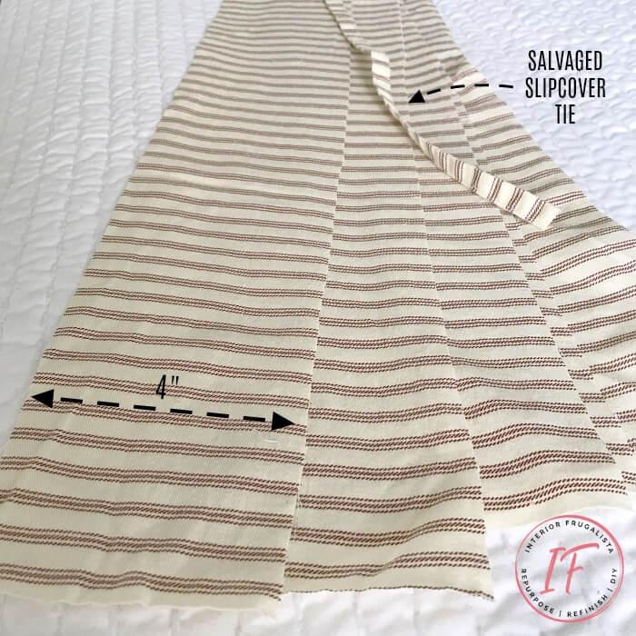 Office Chair Bolster Pillow Ruffle Fabric Strips