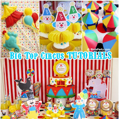 Big Top Circus Birthday | DIY Little Clown Cupcakes