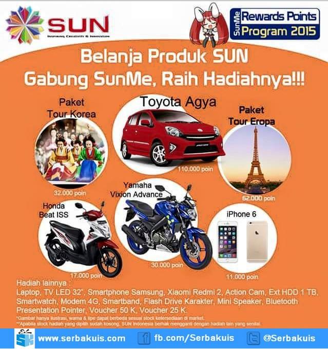 SunMe Rewards Points Berhadiah Mobil Toyota Agya