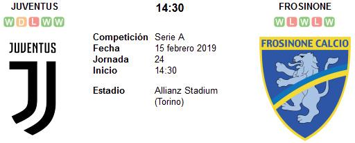 Juventus vs Frosinone en VIVO