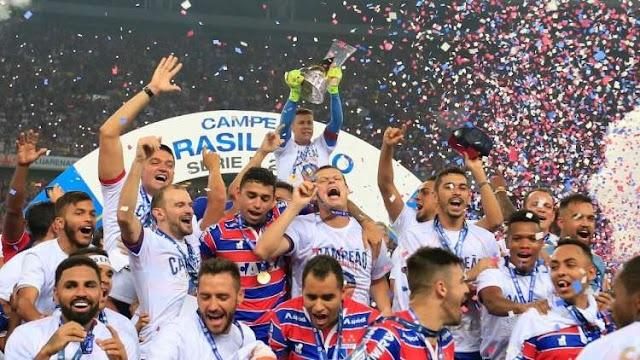 Festa do Fortaleza, campeão da Série B, tem Castelão lotado, goleada e explosão de alegria da torcida tricolor