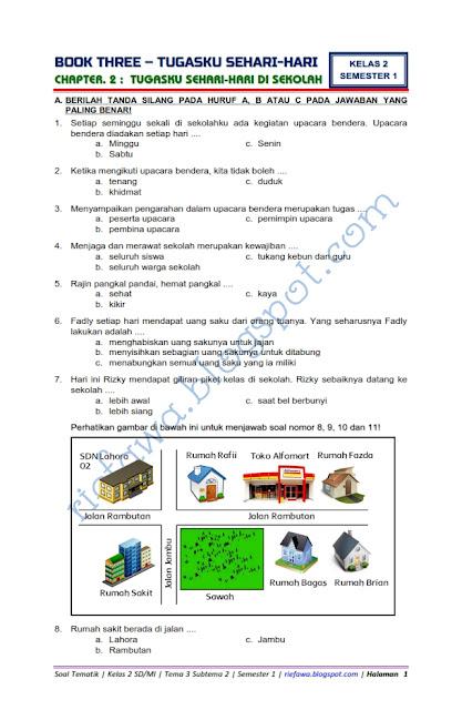 Tema 3 Kelas 2 : kelas, Download, Tematik, Kelas, Subtema, Tugasku, Sehari-Hari, Sekolah, Tahun
