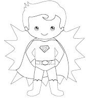 דפי צביעה סופרמן