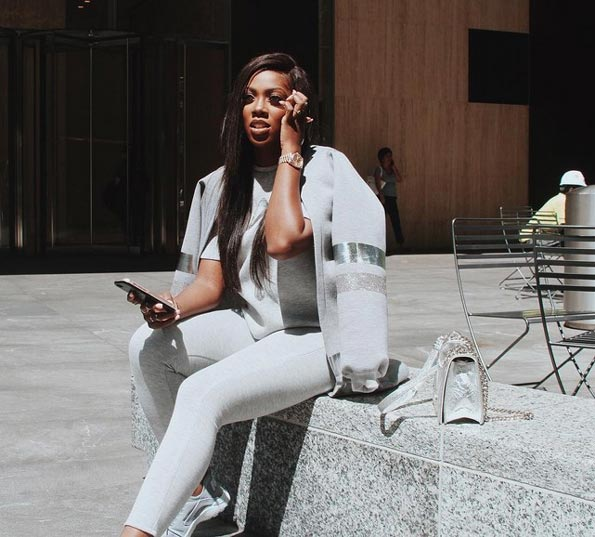 Tiwa Savage looks trendy as she's spotted in New York