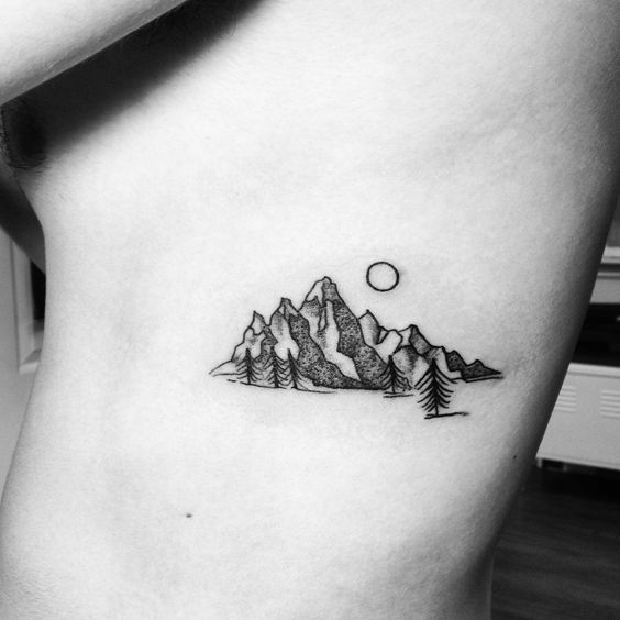 Amazing Mountain Tattoo Designs For Men