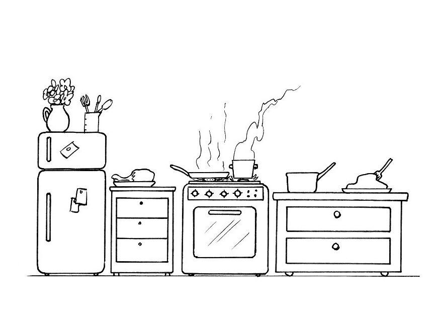 Dibujos Para Colorear Utensilios De Cocina