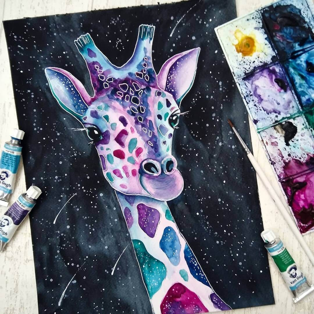 10-Sweet-Giraffe-Katya-Goncharova-9-Whale-Paintings-and-1-Giraffe-www-designstack-co