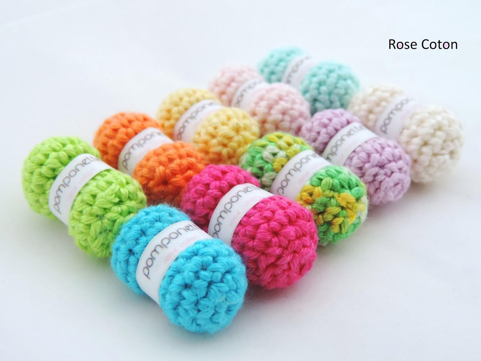 rose coton diy mini pelote de laine au crochet. Black Bedroom Furniture Sets. Home Design Ideas