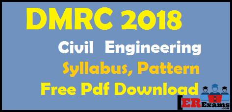 DMRC 2018 Civil Engineering Syllabus, Pattern Free Pdf Download, dmrc delhi metro syllabus electrical engineering detail syllabus and pattern free pdf download
