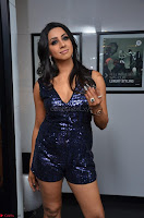 Sanjana looks happy in sparkling short Deep neck Purple Gown ~  Exclusive 43.JPG