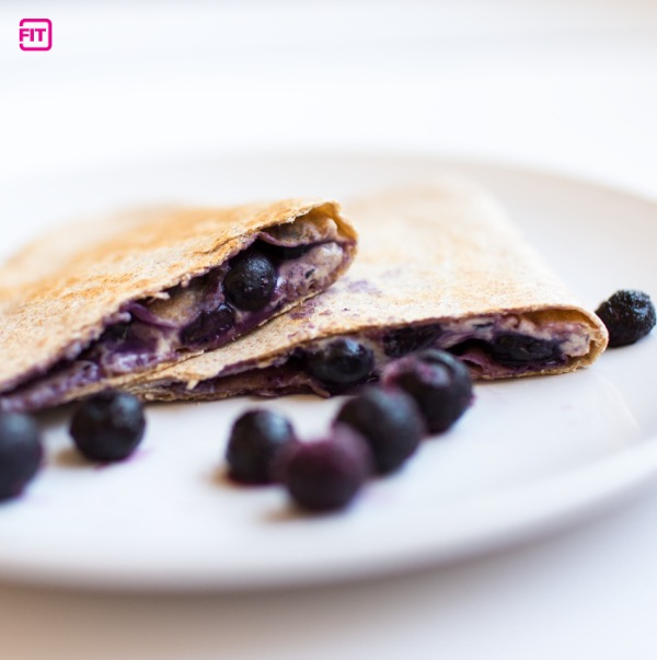 Blueberry Protein Breakfast Quesadilla