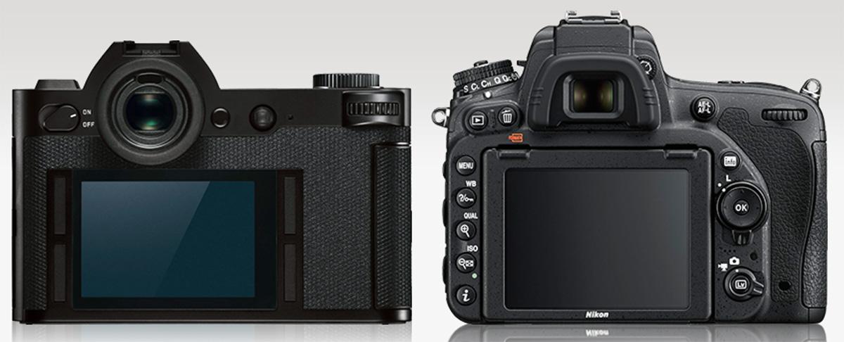 Сравнение Leica SL и Nikon D750
