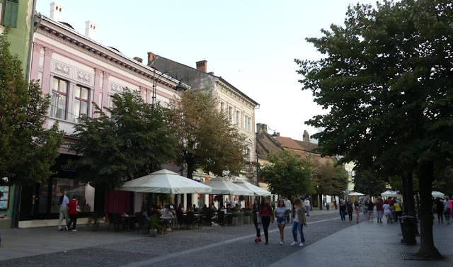 Sibiu - Straßenszene in der Altstadt