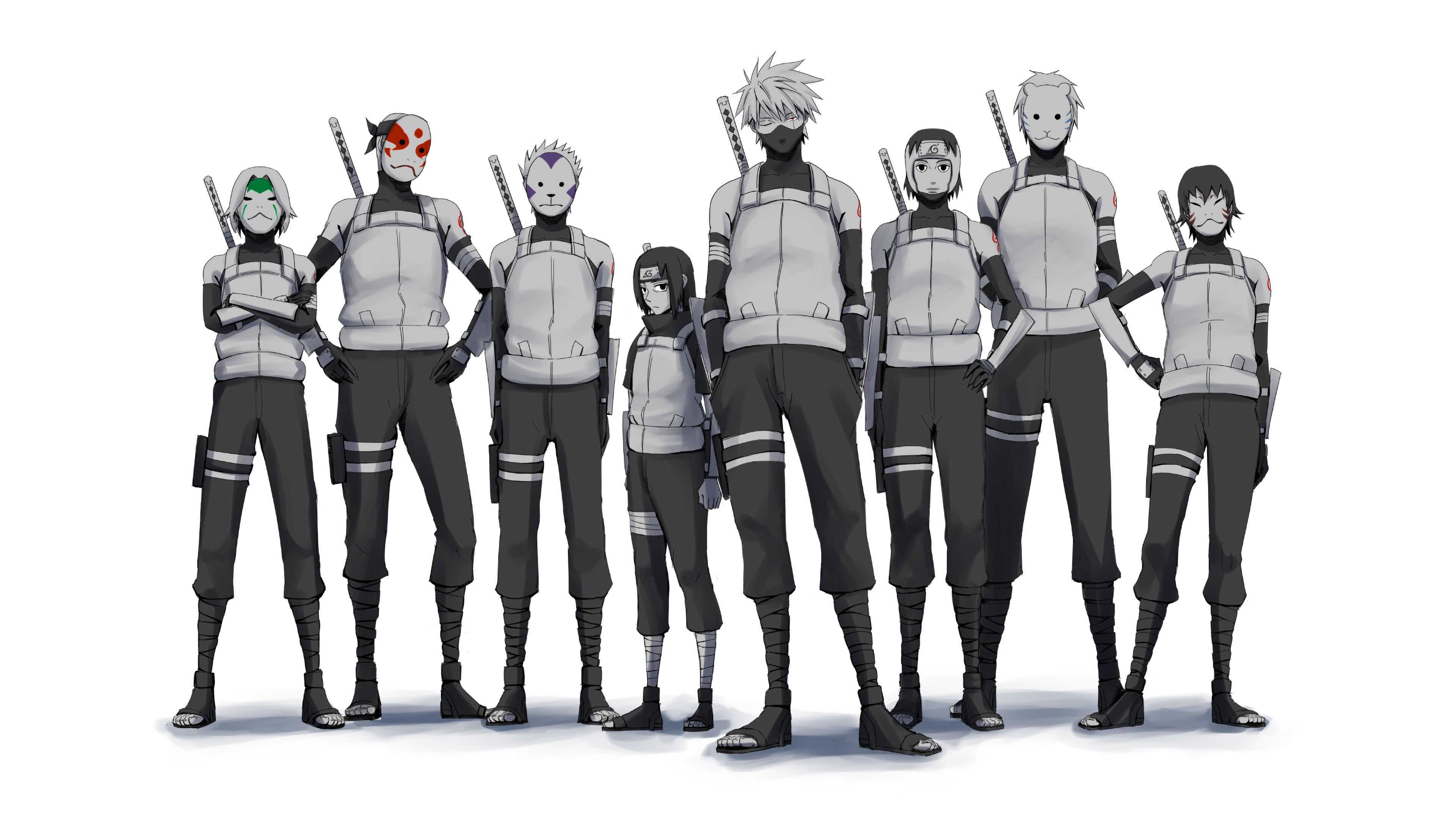 anbu squad kakashi itachi yamato naruto anime 4k uhdpaper.com 3