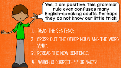 Do you have students who struggle with using I and me as pronouns in their speaking and writing? This grammar topic is confusing to many students... and even some adults! If this is a challenging grammar topic for your students, check out this free I and me lesson! It includes a FREE PowerPoint and handout!