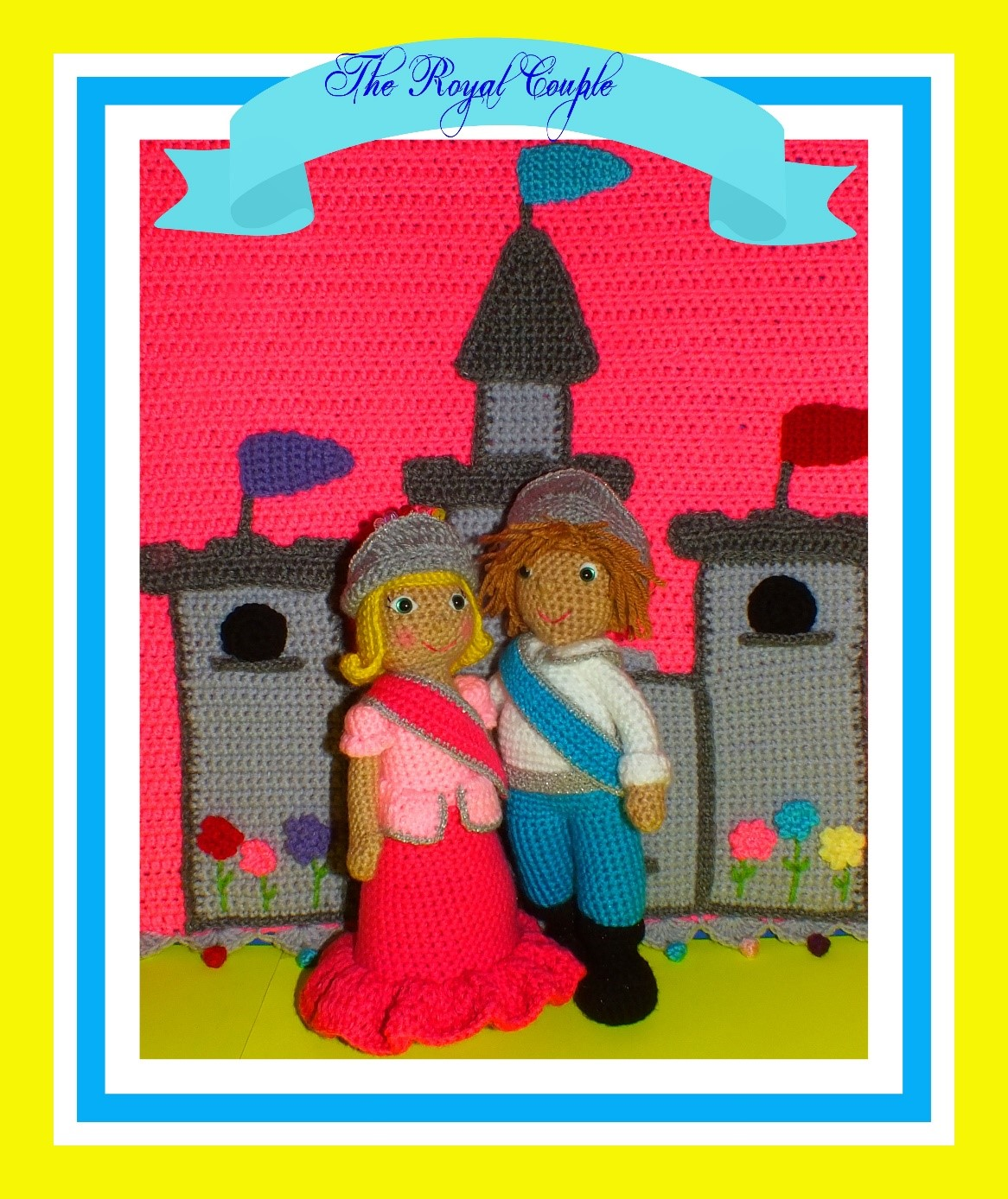 Prince Alvary© & Princess Amelia© Dolls & the Castle Blanket Pattern© By Connie Hughes Designs©