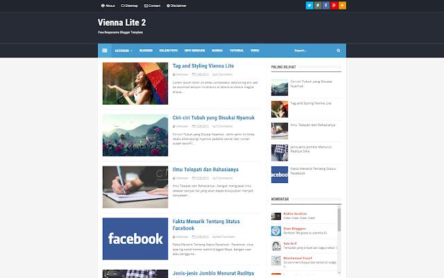 Vienna Lite 2 Responsive Blogger Template