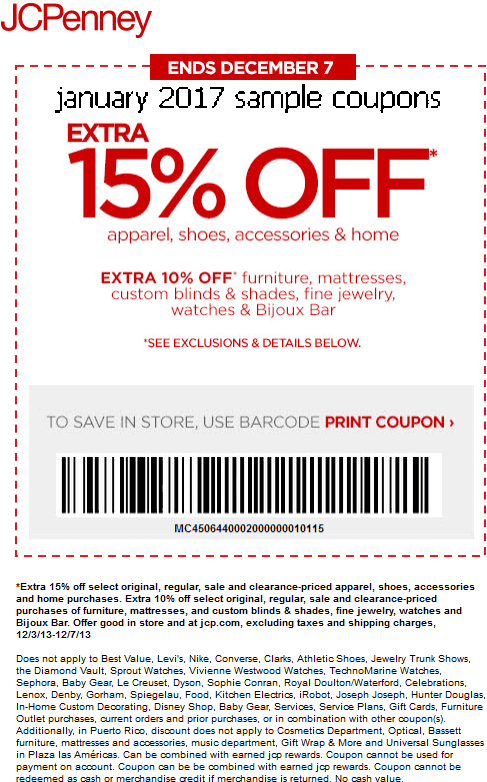 Jcpenney discounts and coupons