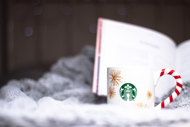 Starbucks Christmas Mug, Cosy, Comfy, Reading, Blanket, Book, Surviving Sick Days Self-Care, Ill, Flu