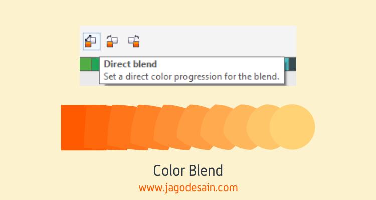 Mengenal Lebih Lanjut Blend Tool - Color Blend