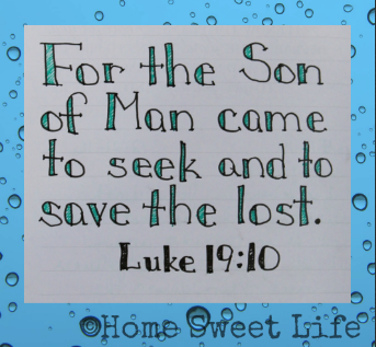 Scripture Writing, Luke 19:10