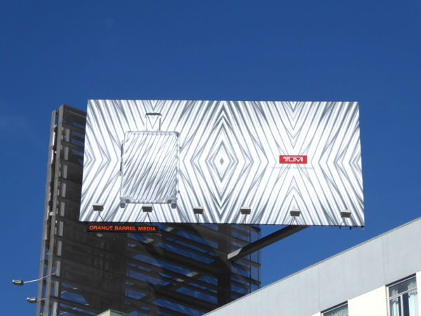 Tumi luggage billboard
