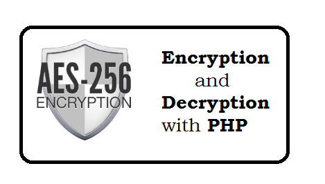 AES Encryption and Decryption in PHP See example
