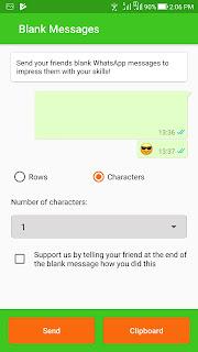 Cara Membuat Pesan Kosong Pada WhatsApp Terbaru 2018 3