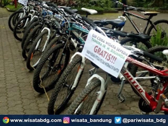Tahura Sediakan Layanan Wisata Sepeda Gratis