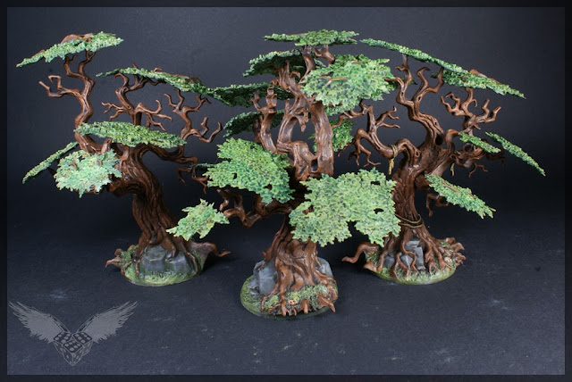 warhammer age of sigmar sylvaneth wyldwood painted forest scenery miniatures trees 1