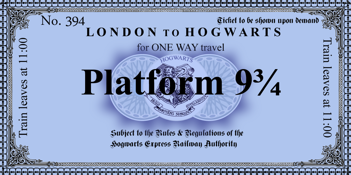 image relating to Platform 9 3 4 Sign Printable named Harry Potter Paraphernalia: The Letters/Invites