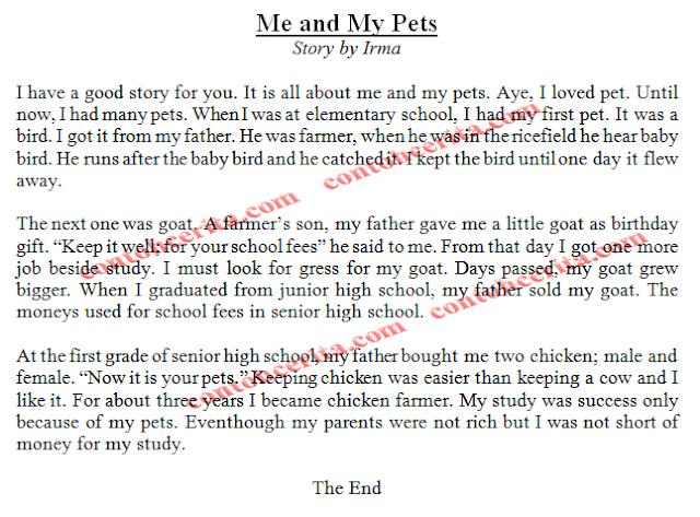Cerita Bahasa Inggris Mudah Dihafal