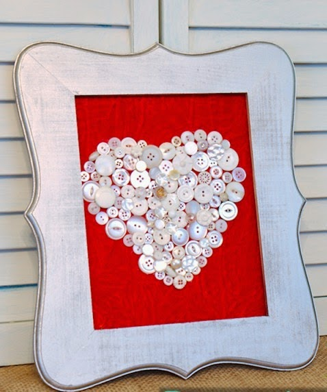 home decoration with button craft