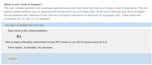 test inglese online gratis