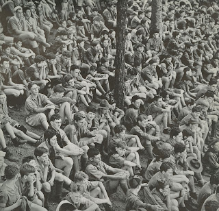 Boy Scouts crowd photograph