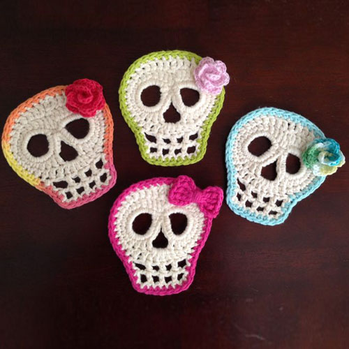Day Of The Dead Skull - Free Pattern