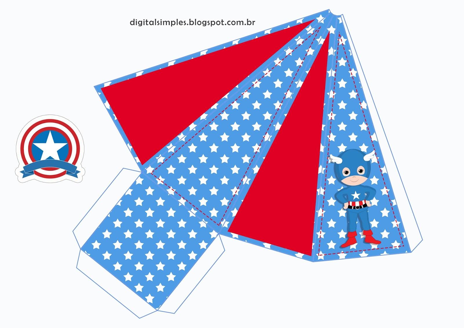 Um Bebe Na Camiseta Kit Festa Capitao America Para Imprimir Gratis