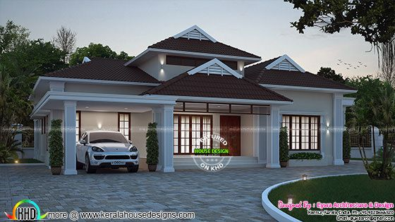 2248 sq-ft 4 bedroom house plan in 2 different style