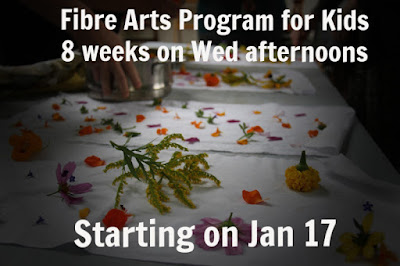 fibre arts program for kids