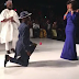 Fashion designer, Johnson Iyaye Rotimi, proposes to his girlfriend at the Lagos Fashion week
