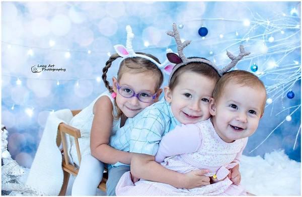 trójka dzieci, rodzeństwo rok po roku, córki i syn