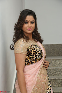 Shilpa Chakravarthy in Lovely Designer Pink Saree with Cat Print Pallu 003.JPG