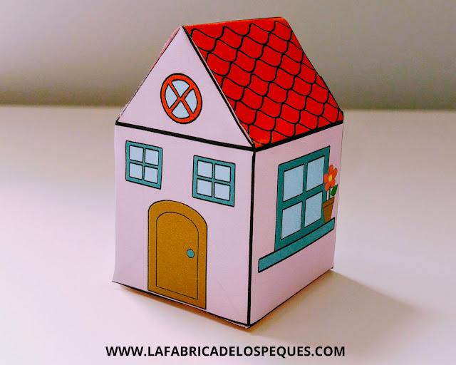 manualidades infantiles casas imprimibles
