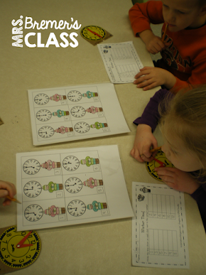 Winter themed math centers for Kindergarten