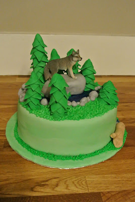 Fifth Street Cakes Forest With Wolf Cake