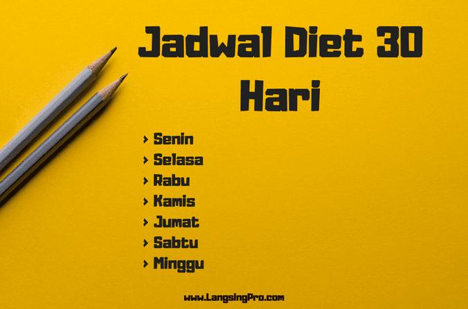 jadwal diet sehari-hari