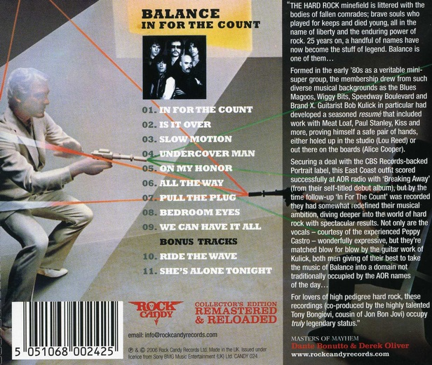 BALANCE - In For The Count [Rock Candy Remastered +2] back