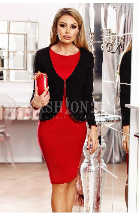 Compleu elegant Eliss rosu negru